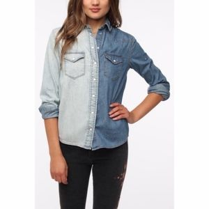Urban Outfitters BDG two tone western denim shirt